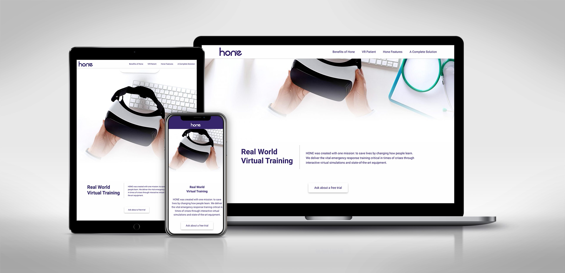 Hone – Website and Collateral