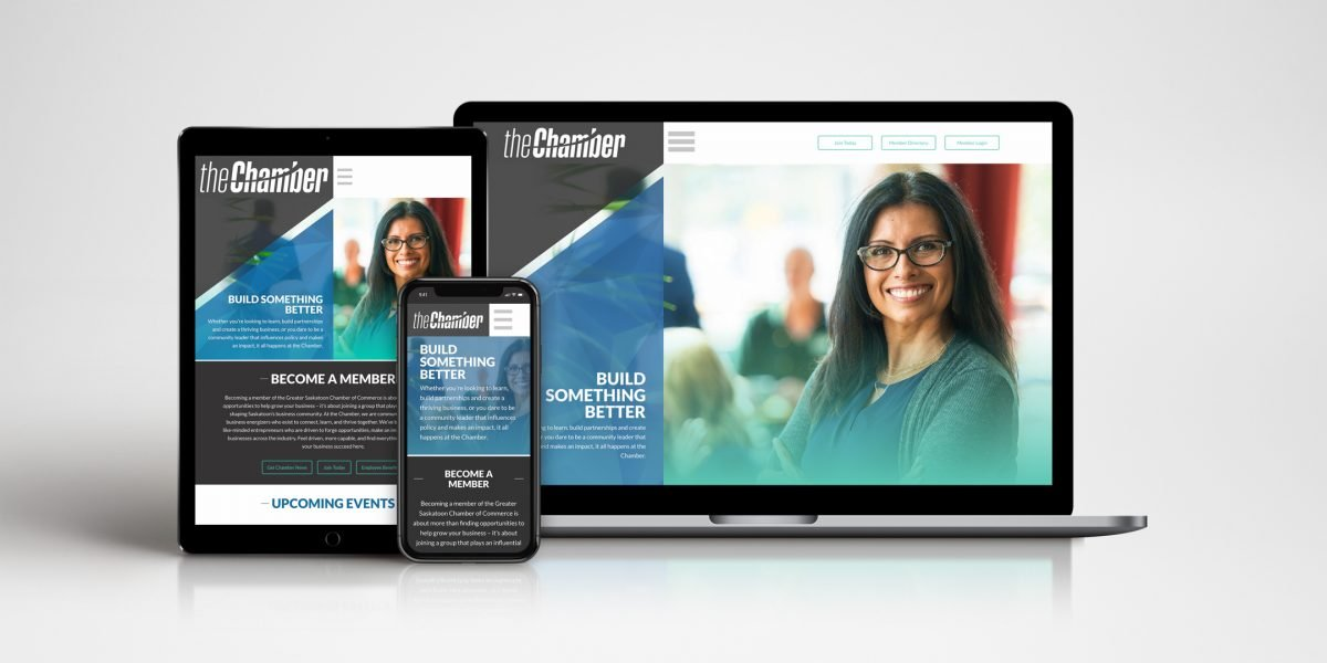 Saskatoon Chamber of Commerce - website flat