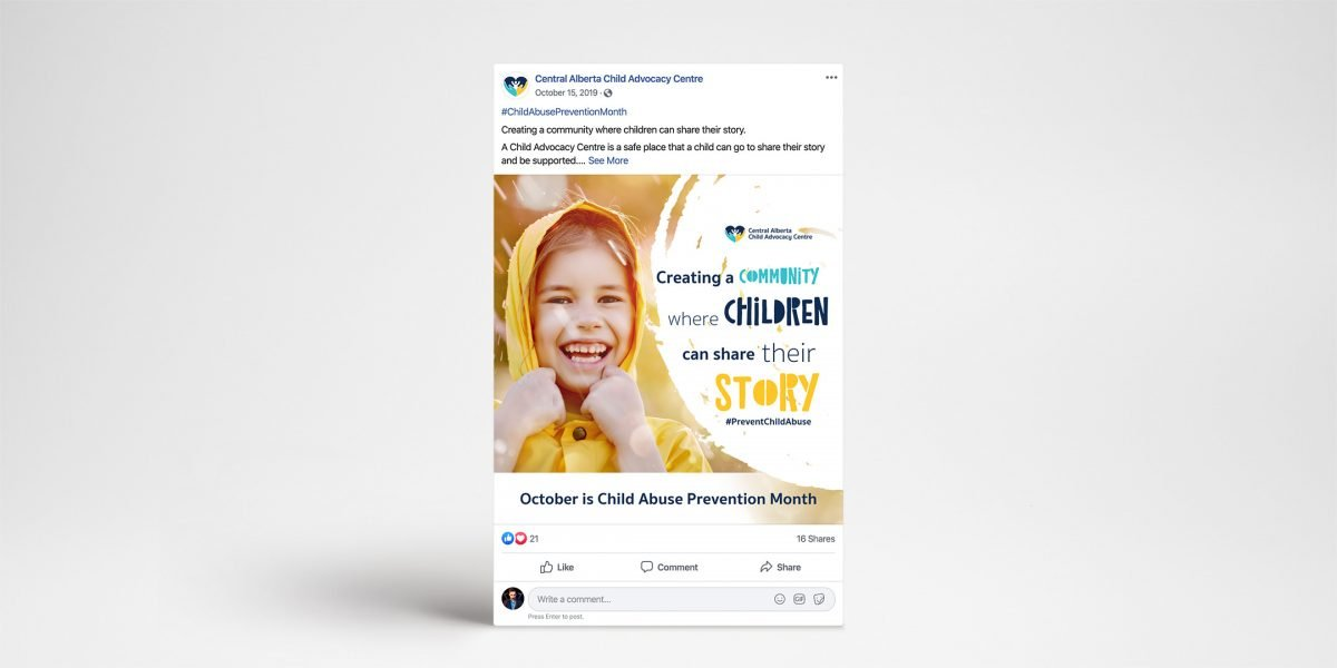 CA Child Advocacy Centre - ad example