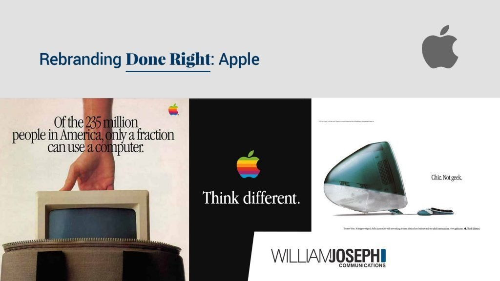 rebrand done right - apple commercial evolution